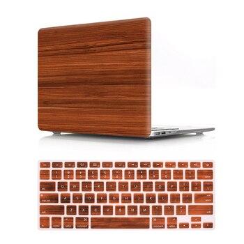 غطاء واقٍ مزخرف لهاتف آيفون من الخشب مع غطاء لوحة المفاتيح الأمريكية لجهاز ماك بوك اير ريتينا برو 13 15 16 شريط لمس حافظة حماية A1706 A1990