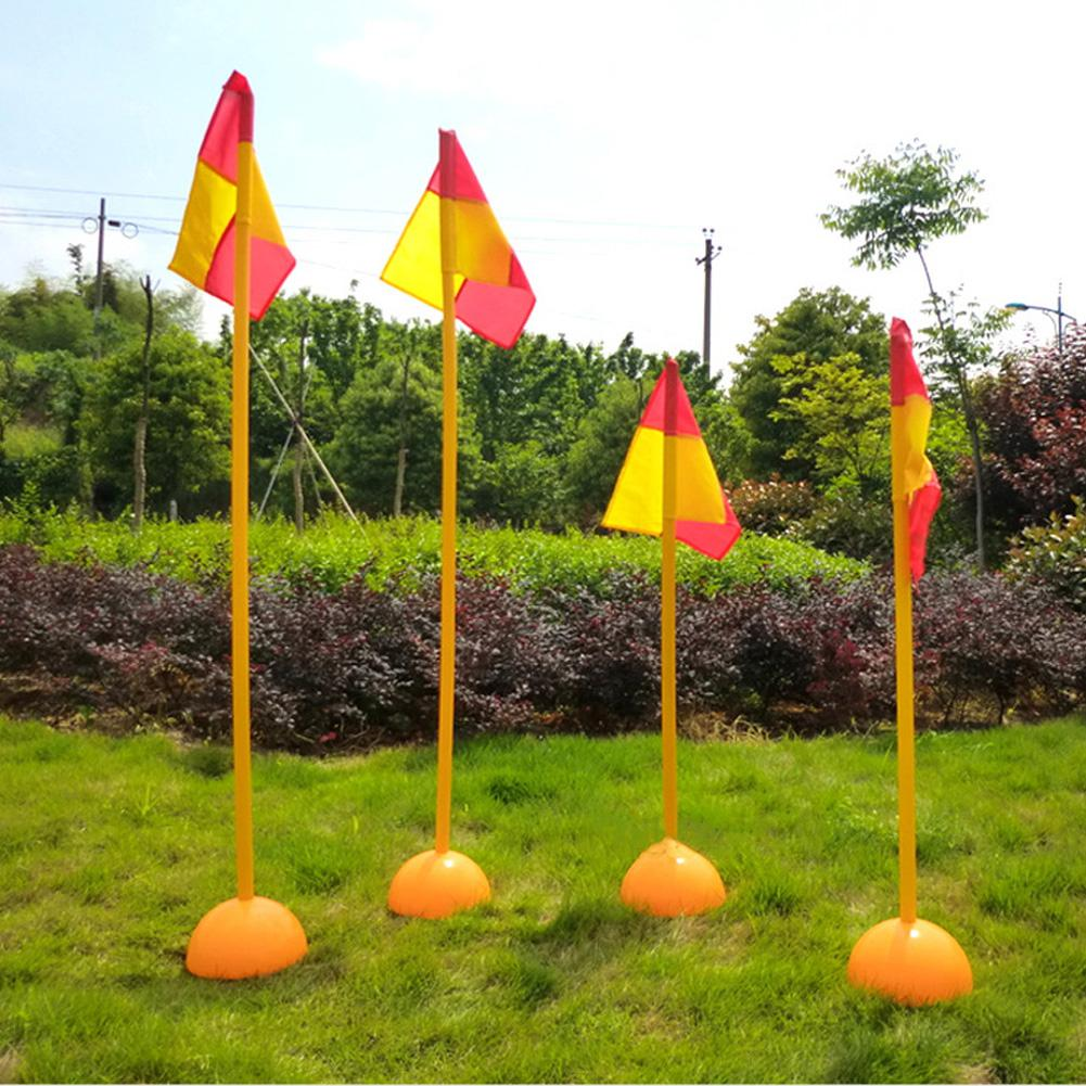 Football Sign Pole Flag Logo Bar Training Equipment Sign Obstacle Marker Rod Football Corner Flag Training Equipment Sign Rod