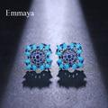 Emmaya Modische Geometrie Radial Licht Emittierende Form Stud Ohrring Imaginäre Cubic Zirkon Für Frauen Dekoration In Bankett
