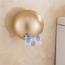 цена на Creative Carton  Suction Cup Toilet Carton Towel Carton  Rose Gold Toilet Paper Holder  Toilet Paper Shelf Paper Towel