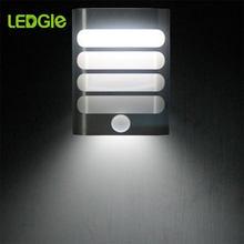 LEDGLE Led duvar lambası Led hareket sensörü gece lambası kablosuz duvar gece lambası otomatik açık/kapalı çocuk koridor yolu merdiven 18650