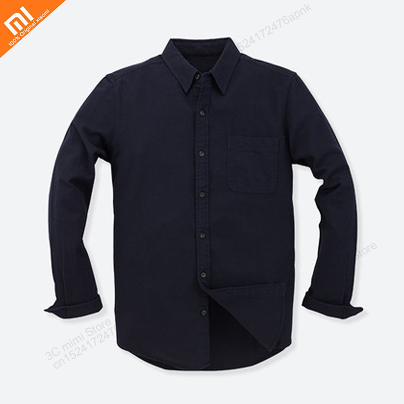 Xiaomi Vancl Flannel Men's Retro Shirt Cotton Long-sleeved Shirt Casual Warm Shirt Autumn And Winter