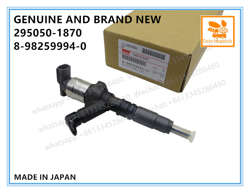 GENUINE AND BRAND NEW DIESEL COMMON RAIL FUEL INJECTOR 295050 1870, 8982599940 FOR ISUZU NLR NMR 4JH1 ENGINEFuel Inject. Controls & Parts   -
