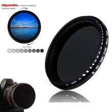 58mm ND2 400 neutralna gęstość Fader zmienna ND filtr do aparatów Canon EOS 90D 77D 80D 4000D 2000D 1300D 250D 1100D 1200D 18 55mm obiektyw