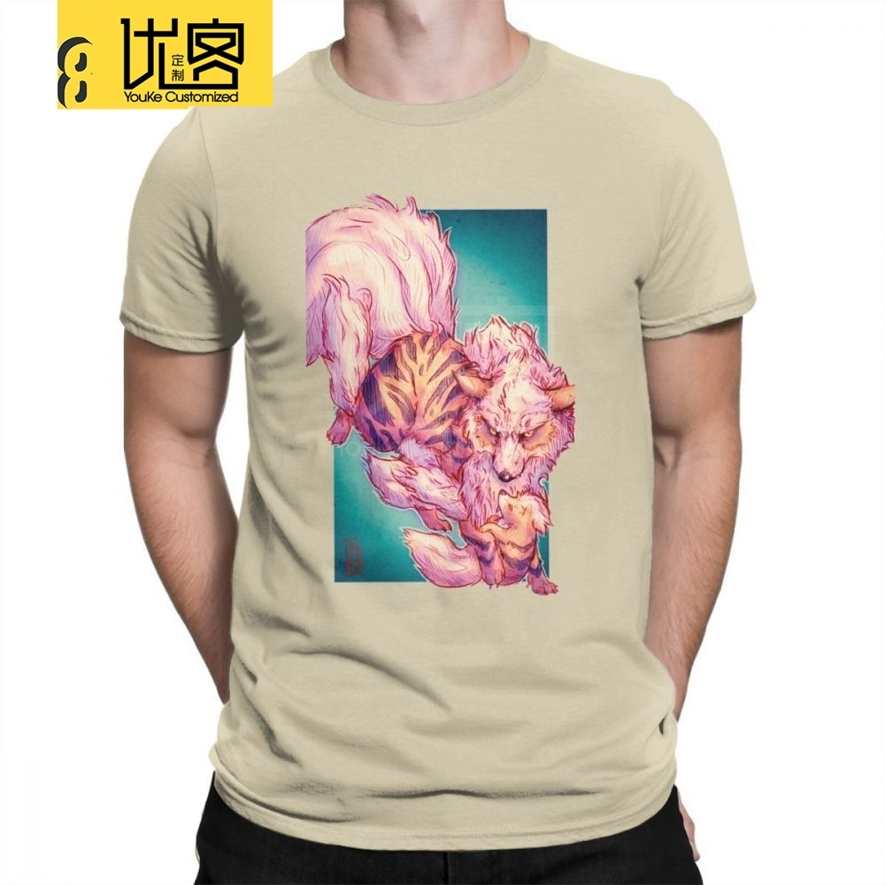 man-t-shirts-arcanine-and-growlithe-font-b-pokemon-b-font-funny-short-sleeve-tees-crew-neck-clothes-cotton-new-t-shirts