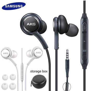 Наушники Samsung AKG EO-IG955 с микрофоном, проводные наушники для Samsung Galaxy S10, S9, S8, S7, Huawei, 3,5 мм