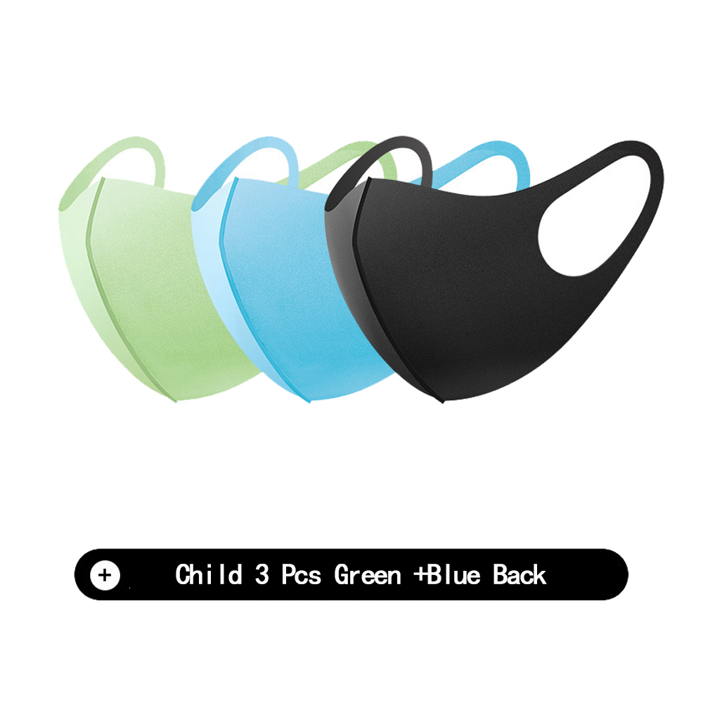 Black Mouth Mask Breathable Unisex Sponge Face Mask For Child Kids Reusable Anti Pollution Face Shield Wind Proof Mouth Cover