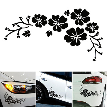 Di buona Qualità Bello Del Fiore Autoadesivo Dell'automobile Del Veicolo Styling Decalcomania Decorativa Copertura Graffi Decalcomanie Auto Adesivi 30x14cm