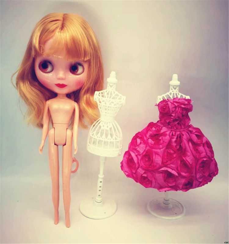 3 sztuk wyświetlacz suknia wieczorowa wieszak na ubrania lalki manekin Hollow Model uchwyt stojak Brabie Blyth