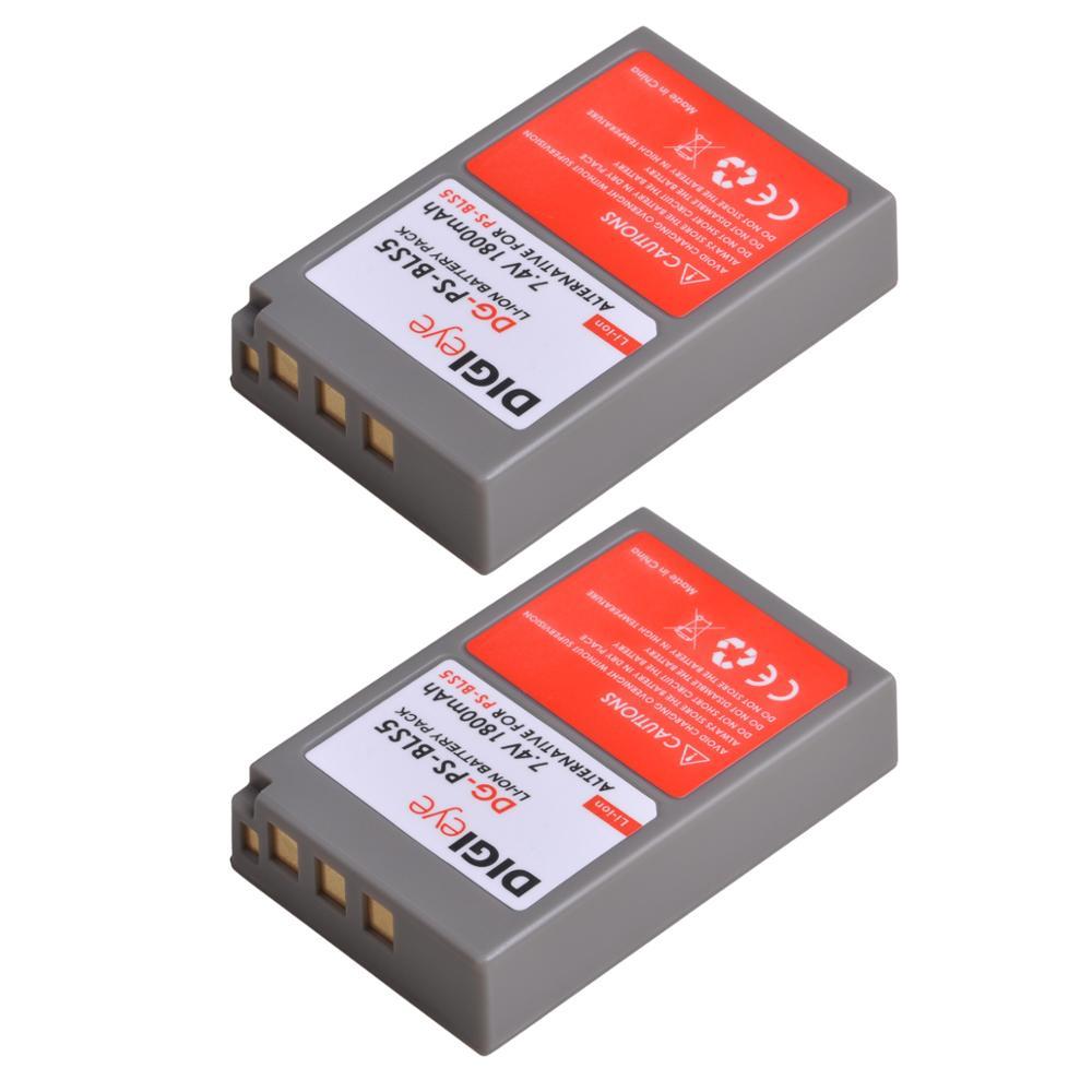 1800mAh BLS-5 BLS-50 PS-BLS5 Battery for Olympus OM-D E-M10, Mark II, Mark III, Pen E-PL2, E-PL5, E-PL6, E-PL7, E-PM2, Stylus 1