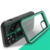 Funda de protección híbrida a prueba de golpes para iPhone, carcasa transparente a prueba de golpes para iPhone 12Pro 11Pro XS Max X XR 7 8 6 6s Plus, funda de silicona con absorción de impacto