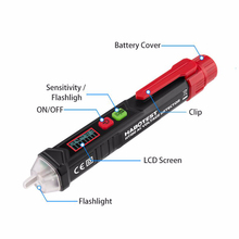цена на Digital Ac Voltmeter Intelligent Non-contact Pen Alarm Voltage Detector Meter Volt Current Electric Test Pencil Auto Tachometer