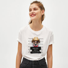 Bad Dog Cat Printed T Shirt Women Casual Short Sleeve Tshirt Summer Unisex Fashion  Short-sleeved Girls Cotton Tee