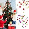 Christmas Hanging Decor Ball Bubbles Glitter Chic Round Christmas Balls Ornament New Year Christmas Tree Decorations 12PCS