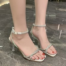 Sexy Transparent Heel Sandals Women Dres