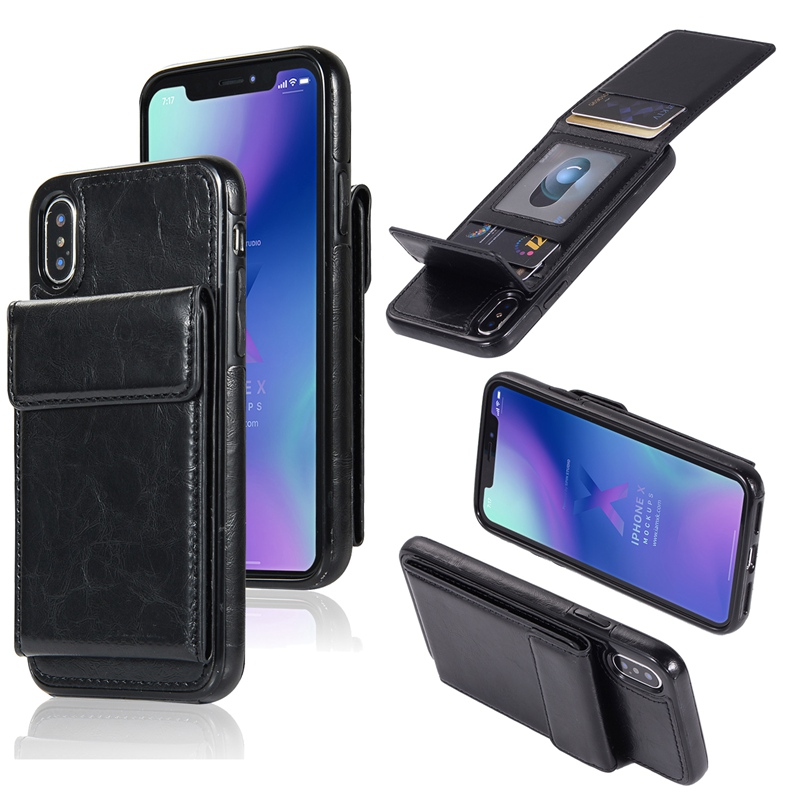 FLOVEME Flip PU Leather Case For iPhone 5S SE 7 8 Business Full Protection Phone Cases For iPhone 7 6 6s 8 Plus X 10 XS XR Case in Flip Cases from Cellphones Telecommunications