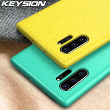 KEYSION Matte Candy Color Phone Case For Samsung Galaxy Note 10 Plus Thin Slim Simple Soft Silicone Cover for S10 S10+ S10e