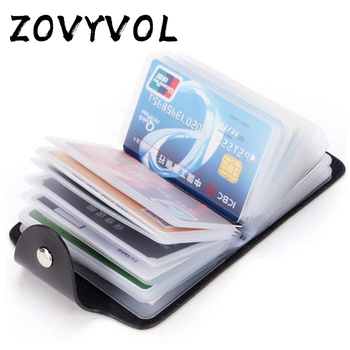 1pc PU Function 24 Bits Credit Card ID Card Wallet Cash Holder Organizer Case Pack Business Credit Card Holder Bank Card Package 1