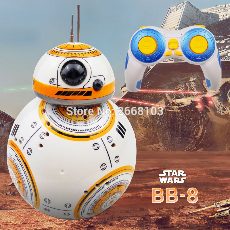 Fast delivery Upgrade Model Star Wars <font><b>RC</b></font> BB-8 Droid <font><b>Robot</b></font> <font><b>BB8</b></font> Ball Intelligent <font><b>Robot</b></font> Kid Toy Gift With Sound 2.4G Remote Control image