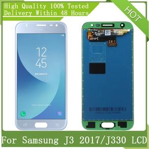 "Image 1 - 5.0 ""ใหม่AMOLED LCDสำหรับSamsung Galaxy J3 2017 J330 J330F J3 ProจอแสดงผลLCD Touch Screen Digitizer Assemblyชิ้นส่วน + Service Pack"