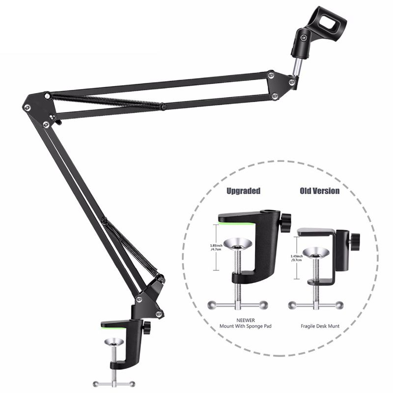 Image 3 - Top Deals NB 35 Microphone Suspension Arm Stand Clip Holder and Table Mounting Clamp Filter Windscreen Mask Shield Clip KitsMic Stand   - AliExpress