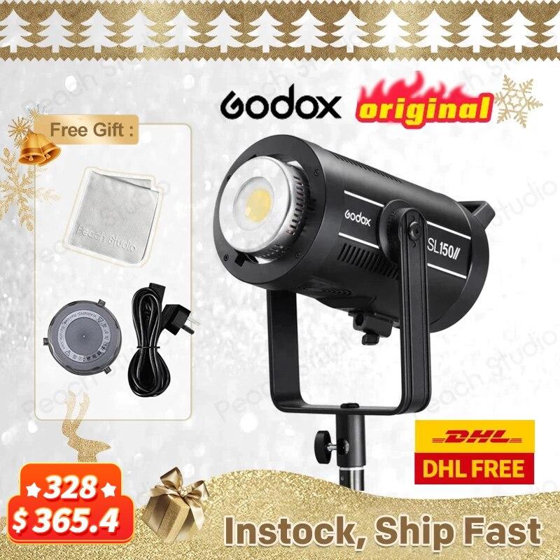 Godox SL-150II SL150W II светодиодный видео светильник белая версия ЖК-дисплей Bowens для фотостудии Аксессуары Youtube Tiktok Live