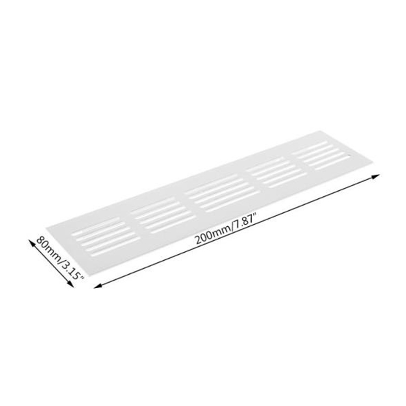225mm X 80mm Aluminum Alloy Air Vent Grille White Wall Ducting Ventilation Cover