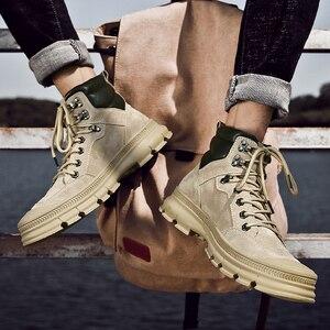 Image 5 - Misalwa moda ao ar livre inverno exército botas militares do deserto dos homens botas de pelúcia respirável trabalho safty tênis plus size 38 46