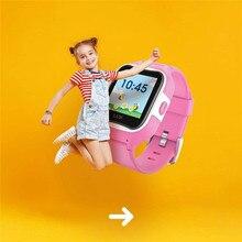 """Дети умные часы GPS трекер водонепроницаемый IP67 GPS местоположение беспроводной фунтов дистанционного мониторинга ГЛОНАСС сенсорный 1.3""""сенсорный смарт часы подарок м2"""