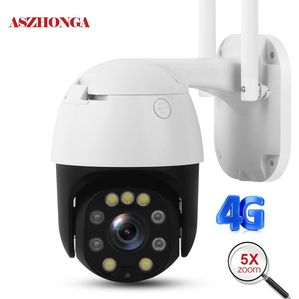 5mp 2mp sem fio 4g wifi câmera de segurança 1080 p hd 5x zoom óptico ptz câmera ip ao ar livre segurança em casa cctv vigilância cam