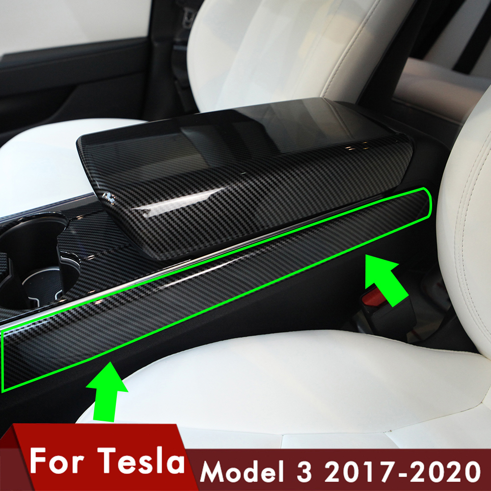 Heenvn Model3 Car Carbon Fiber ABS Side Trim For Tesla Model 3 Accessories Protection Side Protector Cover Model Y ModelY Three