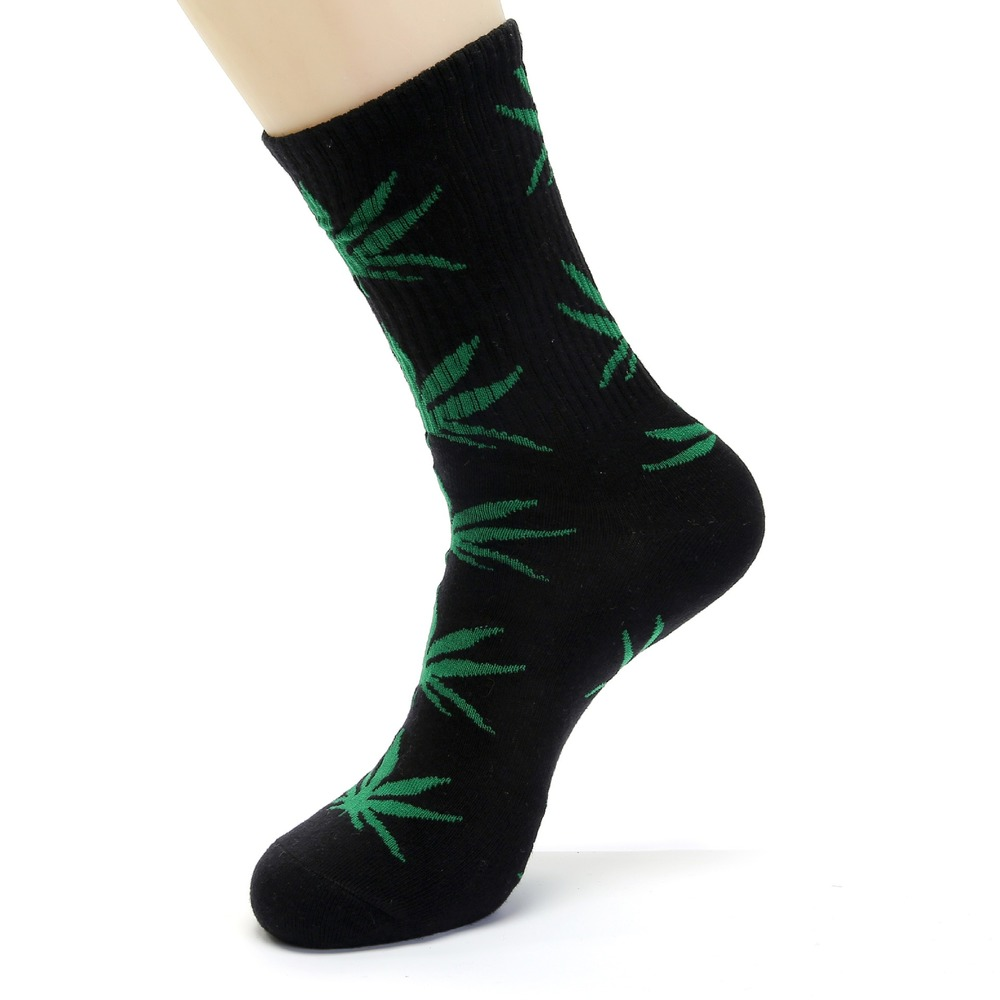 Fashion Comfortable High Quality Cotton Socks Leaf Maple Leaves Casual Long Paragraph Hemp Weed Boat Socks Spring And Autumn