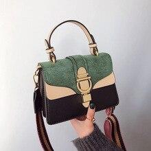 Contrast Colors Tote Bag Women Scrub Crossbody Shoulder Bags Female 2020 New Designer Messenger Hand Bag Purses and Handbags цена 2017