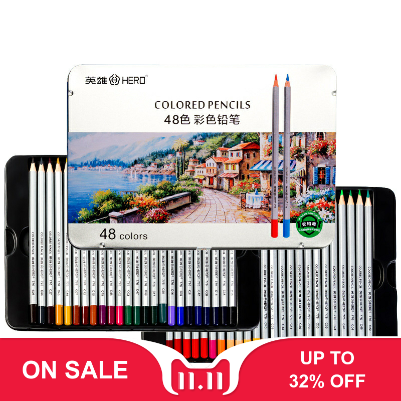 24/36/48/72 Color Professional Watercolor Pencil Set Art Sketch Drawing Wooden Lead Pencils Gift Art School Stationary Supplies