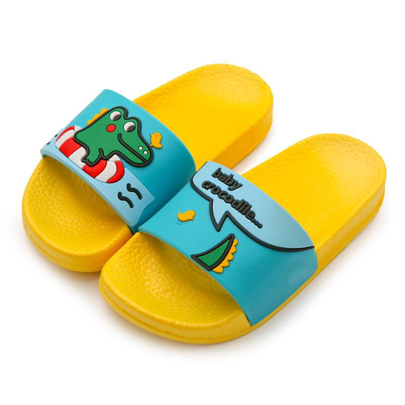 Summer Children Slippers For Boys Girls Beach Sandals Baby House Slippers Home Pvc Flat Flip Flop Kids Non-slip Bathroom Shoes