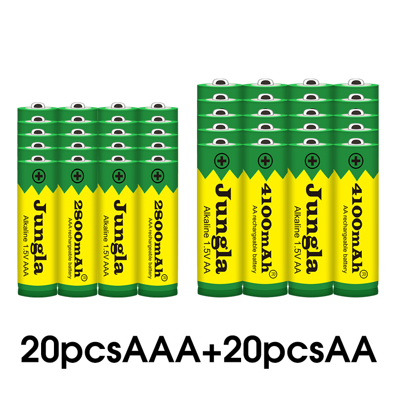 New <font><b>AA</b></font>+AAA 100% New <font><b>1.5V</b></font> <font><b>Rechargeable</b></font> <font><b>AA</b></font> <font><b>Battery</b></font> AAA Alkaline 2800-4100mah For Torch Toys Clock MP3 Player Replace Ni-Mh <font><b>Battery</b></font> image