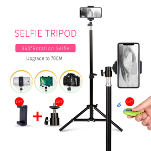 Photography 1/4 Screw Head Selfie Portable Light Tripod Stand With Bluetooth Remote Phone Clip Ball Head For Mini Photo Studio(China)