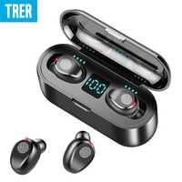 Słuchawki bezprzewodowe Bluetooth 5.0 sterowanie dotykowe led wyświetlacz Bluetooth słuchawki z mikrofonem słuchawki stereo z 2000 mah Power Bank