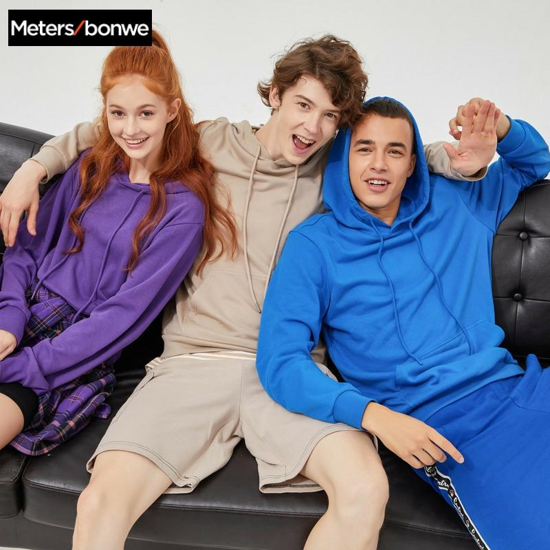 Metersbonwe Basic Hoodies Male Female Hooded Sweatshirts High Quality Solid Colour Fashion Unisex Hoodies Skateboard Streetwear 1