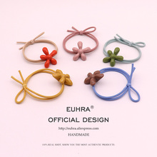EUHRA 5 Colors Sunflower Flower Petal Shape Floral Girls Women Elastic Hair Bands Kids Rubber Strong