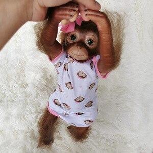 Image 3 - シリコンリボーンベビードール猿ガールズボーイズ 50 センチメートル 100% 手作り猿非常にソフトシリコンビニール柔軟なコレクター芸術人形
