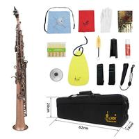 Straight Bb Soprano Saxophone with Bag Professional Stage Practice Accessory 702x91x91mm