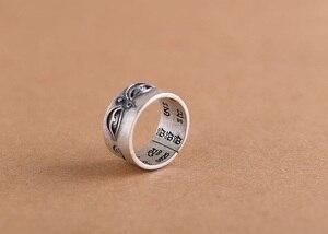 Image 2 - Handgemaakte 925 Zilveren Tibetaanse Wijsheid Ogen Ring Boeddhistische Hemel Ogen Ring Buddha Ogen Ring Resizable