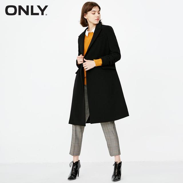 ONLY summer new simple versatile commuting long double-breasted long windbreaker jacket  trenchcoat  |  118336540