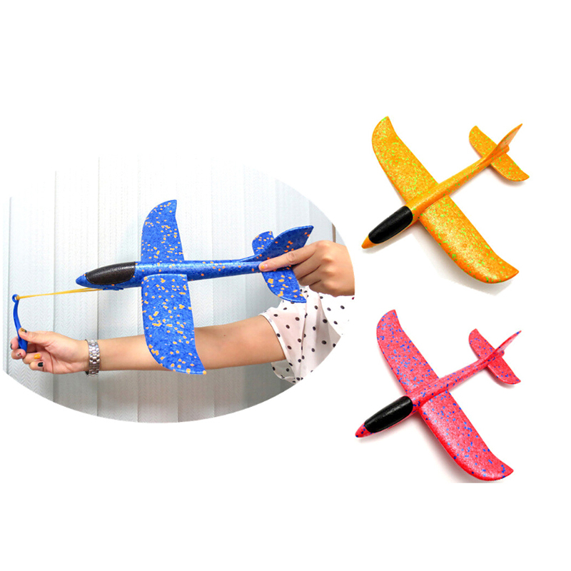 35CM EPP Foam Hand Throw Airplane Rubber Band Ejection Outdoor Launch Glider Plane Gift Interesting Toys For Children Kids Game image