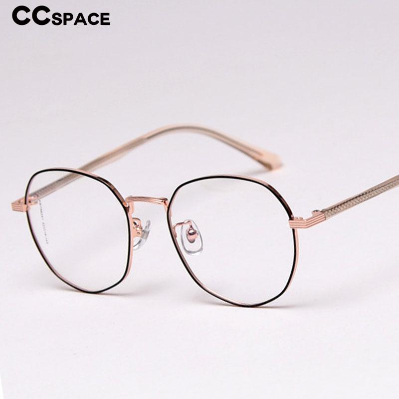 47358 Polygon Glasses Frames Men Women Trending Styles CCSPACE Brand Designer Optical Fashion Computer Glasses