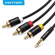 Vention Câble RCA Jack 3.5mm à 3RCA Câble Audio AUXILIAIRE RCA Jack 3 5 Splitter pour Amplificateur Home Cinéma Stéréo RCA Jack 2.5mm