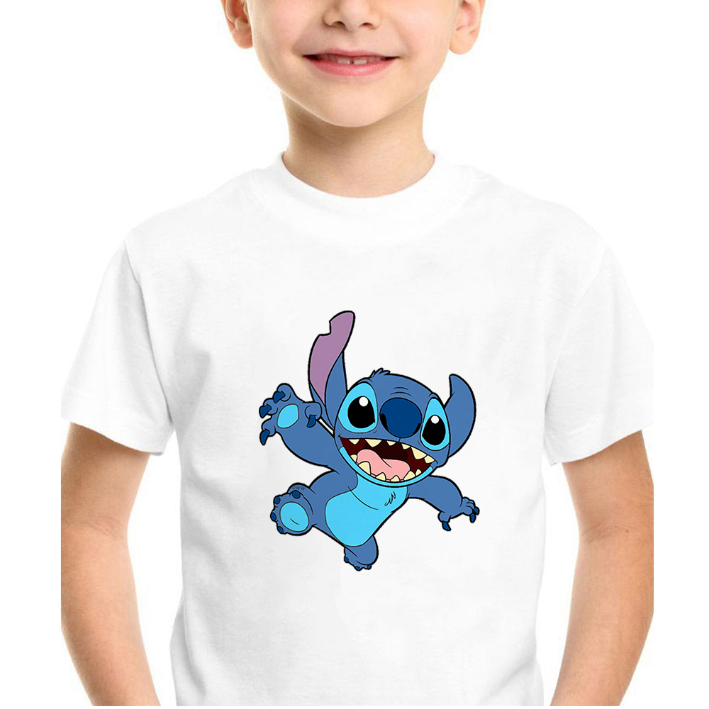 Summer Children's Short Sleeve Disney Movie Lilo&Stitch Printed Boy Top Hipster Edgy Comfortable Soft Baby Clothes Dropship