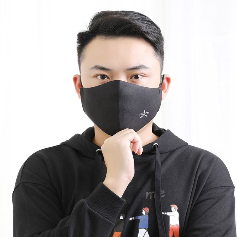 Fog-free Men Mouth Face Mask Anti Dust Pollution Haze Respirator Filter Washable