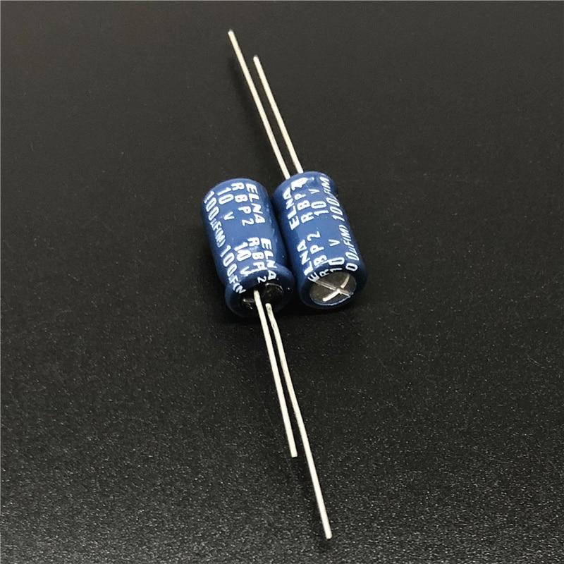 10pcs 100uF 10V Japan ELNA R2B Series 6.3x11mm 10V100uF RBP2 Bipolar Audio Capacitor